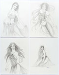 Original Comic Art:Splash Pages, R. Elizabeth Q. - Harem Dancers Fantasy Illustrations Original ArtGroup of 4 (2010-11).... (Total: 4 Original Art)