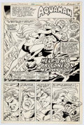 Original Comic Art:Splash Pages, Alex Saviuk and Dan Adkins Action Comics #539 Splash PageOriginal Art (DC, 1983)....