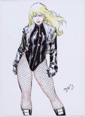 Original Comic Art:Splash Pages, Ed Benes - Black Canary Pin-Up Illustration Original Art (2011)....