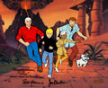 "Animation Art:Limited Edition Cel, Jonny Quest ""Volcano Island"" Limited Edition Cel AnimationArt AP #7/20 (Hanna-Barbera, c. 1980-90s)...."