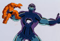 Animation Art:Production Cel, The Fantastic Four The Thing and Kree Sentry Production Cel& Animation Drawing (Marvel Films, 1995).... (Total: 2 )
