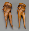 Decorative Arts, Continental, Two Continental Carved Wood Nutcrackers of Mariners, early 20thcentury. 8 inches high (20.3 cm). ... (Total: 2 Items)