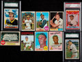 Baseball Cards:Lots, 1950's - 1970's Baseball Hall of Famers Card collection (10) - WithGibson Rookie. ...