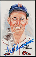 Autographs:Post Cards, 1981 Perez-Steele Ted Williams Signed Postcard. ...
