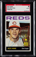 Baseball Cards:Singles (1960-1969), Signed 1964 Topps Pete Rose #125 SGC Authentic....