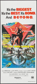 "Movie Posters:James Bond, The Spy Who Loved Me (United Artists, 1977). Australian Daybill(13"" X 30""). James Bond.. ..."