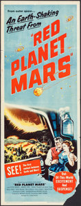 """Movie Posters:Science Fiction, Red Planet Mars (United Artists, 1952). Insert (14"""" X 36""""). ScienceFiction.. ..."""