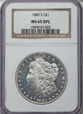Morgan Dollars: , 1880-S $1 MS65 Deep Mirror Prooflike NGC. NGC Census: (428/122). PCGS Population: (625/228). CDN: $650 Whsle. Bid for probl...