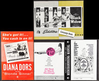 "Blonde Sinner & Others Lot (Allied Artists, 1956). Pressbooks (21) (Multiple Pages, 8.25""-14"" X 11"" X..."