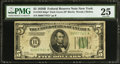 Fr. 1952-B* $5 1928B Dark Green Seal Federal Reserve Note. PMG Very Fine 25