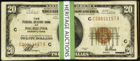 Fr. 1870-C $20 1929 Federal Reserve Bank Notes. Thirty-Two Examples. Fine or Better