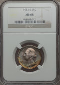 Washington Quarters, 1953-S 25C MS68 NGC....