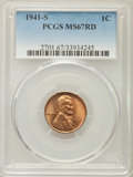 Lincoln Cents, 1941-S 1C MS67 Red PCGS. PCGS Population: (249/0). NGC Census: (986/0). Mintage 92,360,000....