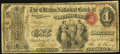 National Bank Notes:Pennsylvania, Pittsburgh, PA - $1 Original Fr. 380 The Citizens NB Ch. # 619. ...