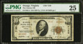 National Bank Notes:Virginia, Orange, VA - $10 1929 Ty. 2 The Citizens NB Ch. # 7150. ...