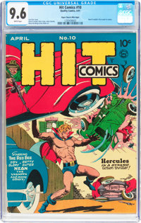 Hit Comics #10 Mile High Pedigree (Quality, 1941) CGC NM+ 9.6 White pages