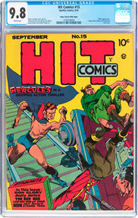 Hit Comics #15 Mile High Pedigree (Quality, 1941) CGC NM/MT 9.8 White pages