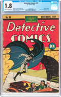 Golden Age (1938-1955):Superhero, Detective Comics #33 (DC, 1939) CGC GD- 1.8 Cream to off-white pages....