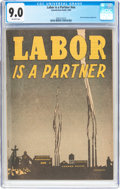 Golden Age (1938-1955):Non-Fiction, Labor Is A Partner #nn (Catechetical Guild, 1949) CGC VF/NM 9.0Off-white pages....