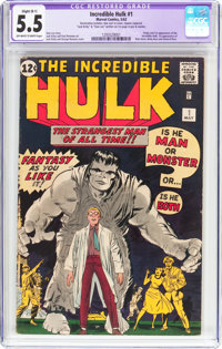 The Incredible Hulk #1 (Marvel, 1962) CGC Apparent FN- 5.5 Slight (B-1) Off-white to white pages