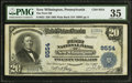 National Bank Notes:Pennsylvania, New Wilmington, PA - $20 1902 Plain Back Fr. 652 The First NB Ch. #9554. ...