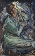 Fine Art - Painting, American:Modern  (1900 1949)  , Iver Rose (American, 1899-1972). Coal Miner . Oil on paper.24-1/2 x 16 inches (62.2 x 40.6 cm) (sight). Signed lower le...
