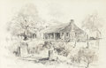 "Fine Art - Work on Paper:Drawing, Edward Muegge ""Buck"" Schiwetz (American, 1898-1984). The RubenTurner House, 1961. Pencil on paper. 12-1/4 x 19-3/8 inch..."