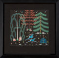 American Indian Art, Pop Chalee, Taos (1906 - 1993). Enchanted Forest. ...