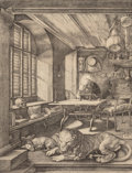Prints, After Albrecht Dürer (German). St. Jerome in His Study. Collotype. 9-1/2 x 7-1/4 inches (24.1 x 18.4 cm) (image). 15 x 1... (Total: 3 Items)