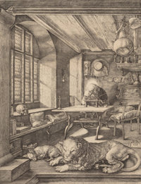 After Albrecht Dürer (German) St. Jerome in His Study Collotype 9-1/2 x 7-1/4 inches (24.1 x 18.4