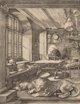 After Albrecht Dürer (German) St. Jerome in His Study Collotype 9-1/2 x 7-1/4 inches (24.1 x 18.4 cm) (image) 15 x...