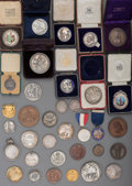 Sculpture, A Group of Thirty-Five Silver and Copper Achievement Award Medals, 19th/20th century. 1-3/4 inches diameter (4.4 cm) (averag... (Total: 35 Items)