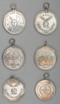 Silver Smalls, Six Harvard Silver Medals, 19th century. 1-5/8 inches diameter (4.1cm) (average). 5.74 troy ounces. ... (Total: 6 Items)