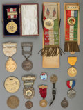 Paintings, A Group of Transportation Related Exonumia and Badges, 19th/20th century. 8-1/2 inches high (21.6 cm) (largest, imaged). ...