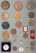 Sculpture, An Extensive Group of Presidential and Political Medals and Badges, 19th/20th century. 1-1/2 inches diameter (3.8 cm) (avera... (Total: 132 Items)