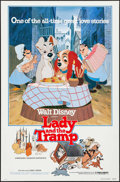 """Movie Posters:Animation, Lady and the Tramp & Other Lot (Buena Vista, R-1980). One Sheets (2) (27"""" X 41"""") Flat Folded. Animation.. ... (Total: 2 Items)"""