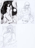 Original Comic Art:Splash Pages, Carlos Silva - Nude Female Pin-Up Illustrations Original Art Groupof 3 (undated).... (Total: 3 Original Art)
