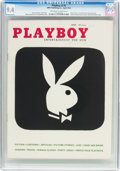 Magazines:Vintage, Playboy V3#4 (HMH Publishing, 1956) CGC NM 9.4 Off-white to white pages....