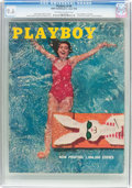 Magazines:Vintage, Playboy V3#6 (HMH Publishing, 1956) CGC NM+ 9.6 Off-white to white pages....