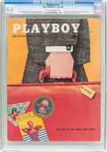 Magazines:Vintage, Playboy V3#7 (HMH Publishing, 1956) CGC VF+ 8.5 Off-white to white pages....