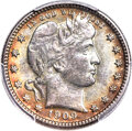 Barber Quarters, 1909-O 25C MS64 PCGS Secure....