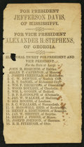 Confederate Notes:Group Lots, Confederate Virginia Electoral Ticket Printed on Buff Paper (1861).. ...