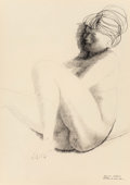 Fine Art - Work on Paper:Drawing, Emilio Greco (Italian, 1913-1995). Sleeping Nude, 1962. Inkon paper. 27 x 19 inches (68.6 x 48.3 cm) (sight). Signed, d...