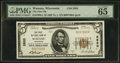 National Bank Notes:Wisconsin, Wausau, WI - $5 1929 Ty. 1 The First NB Ch. # 2820. ...