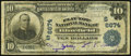 National Bank Notes:West Virginia, Bluefield, WV - $10 1902 Plain Back Fr. 624 The Flat Top NB Ch. #(S)6674. ...