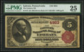 National Bank Notes, Ephrata, PA - $5 1882 Brown Back Fr. 473 The Farmer's NB Ch. # 4923. ...