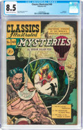 Golden Age (1938-1955):Classics Illustrated, Classics Illustrated #40 Mysteries - Original Edition (Gilberton,1947) CGC VF+ 8.5 Cream to off-white pages....