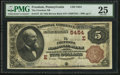 National Bank Notes, Freedom, PA - $5 1882 Brown Back Fr. 477 The Freedom NB Ch. # (E)5454. ...