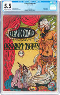 Golden Age (1938-1955):Classics Illustrated, Classic Comics #8 Arabian Nights (Elliott, 1943) CGC FN- 5.5Off-white to white pages....