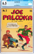 Golden Age (1938-1955):Humor, Joe Palooka #2 (Columbia, 1943) CGC FN+ 6.5 Off-white to white pages....